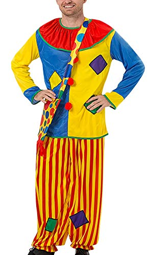 AIEOE Circus Clown Costume with Bag Fancy Joker Masquerade Party Props Outfits Suits