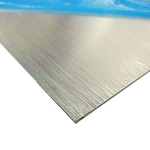 Online Metal Supply Brushed, Anodized Aluminum Sheet, Thickness: 0.025 inch, Width: 24 inches, Length: 36 inches ()