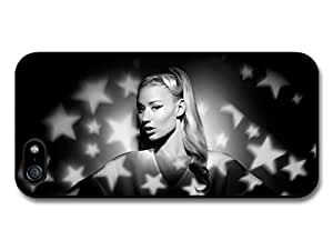 Iggy Azalea Black and White Portrait with Stars Case For HTC One M8 Cover