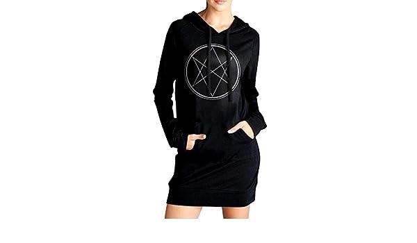 ADA/&KGH Womens Pullover Fleece Long Hoodies Dress Supernatural Coat with Kanga Pocket