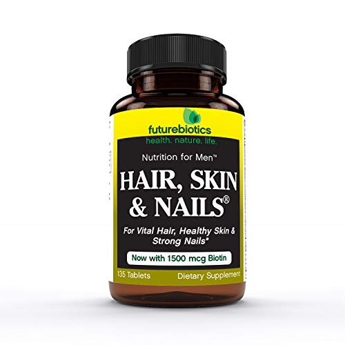 - Futurebiotics Hair, Skin, Nails Nutrition for Men, 135 Tablets