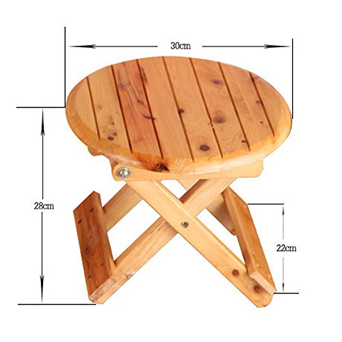 Folding Stool, Folding Small Bench, Solid Wood Stool, Non-plastic Stool, Fishing Stool, Children's Stool by PM-Folding Stools (Image #1)