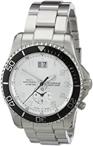 Victorinox Swiss Army Men's 241442 Maverick GS Dual Time Silver Double Date Dial Watch