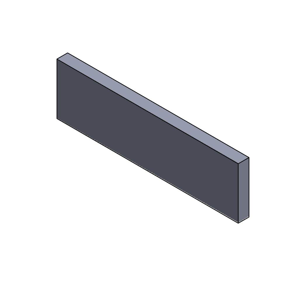 Vermiculite Flamado Heizgasumlenkplatte unten 448x145x30mm