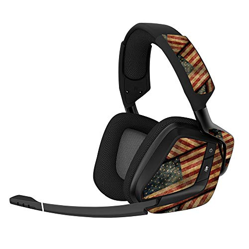 - MightySkins Skin for Corsair Void Pro Gaming Headset - Vintage American | Protective, Durable, and Unique Vinyl Decal wrap Cover | Easy to Apply, Remove, and Change Styles | Made in The USA