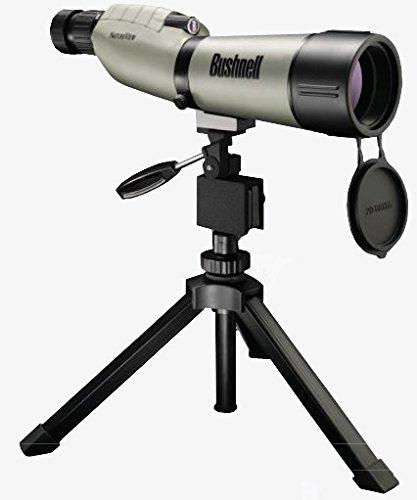Bushnell Trophy XLT 20-60 x 65mm Porro Prism Waterproof/Fogproof Spotting Scope with Compact Tripod, Tan