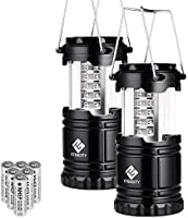 Etekcity 2 Pack LED Camping Lantern with AA Batteries