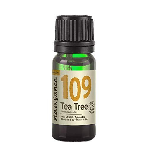 Naissance Aceite Esencial de Arbol de Te BIO n º 109 – 10ml - 100% Puro, vegano, certificado ecologico y no OGM