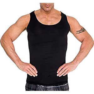 2 Pack LISH Men's Slimming Light Compression Sport Tank Top