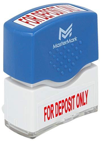 for Deposit Only Stamp - MasterMark Premium Pre-Inked Office Stamp ()