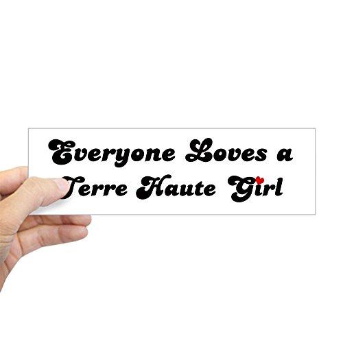 CafePress - Loves Terre Haute Girl Bumper Sticker - 10
