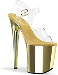 Pleaser Womens FLAM808/C/TECH Platform Dress Sandal
