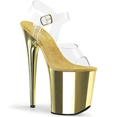 Pleaser Women's Flamingo-808 Ankle-Strap - Inch Sandals Heel Platform 6