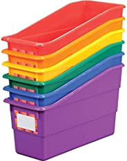 Really Good Stuff Durable Magazine, Book, Folder, File and Binder Holders – Ideal for Narrow or Vertical Storage Needs – Inst