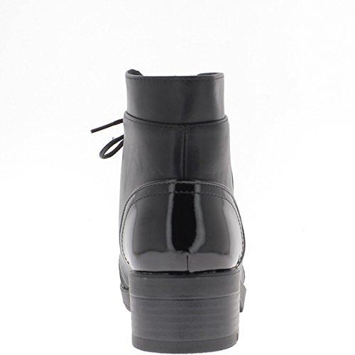 Schwarze Frauen Stiefel 4,5 cm und Sohle von 1,5 cm