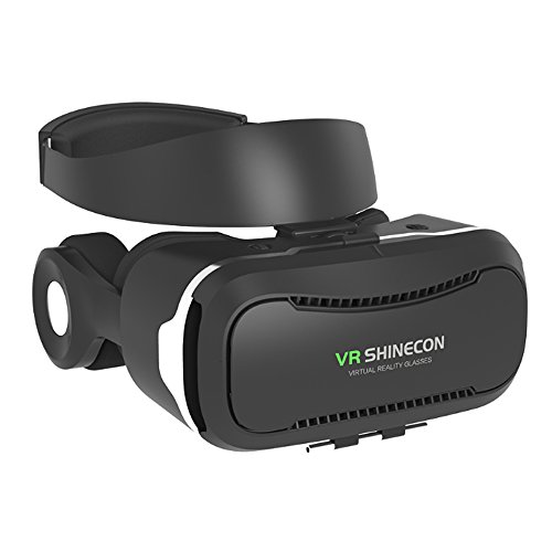 ChiTronic Shinecon 4th Generation Virtual Reality Headset with Stereo Headphone, 360° Viewing Immersive VR Headset, Smart Phone 3D Movies Games Video Glasses