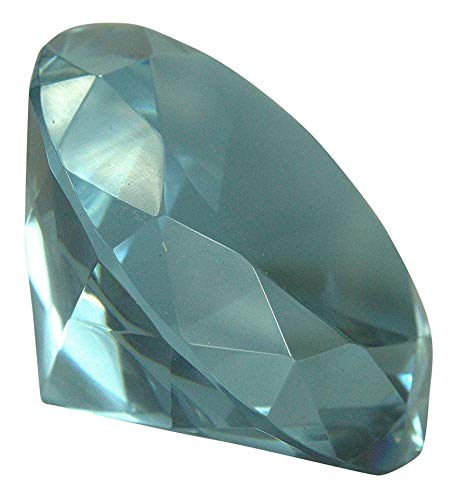 (Crystal Glass Diamond Shaped Decoration Paperweight 80mm (3.15