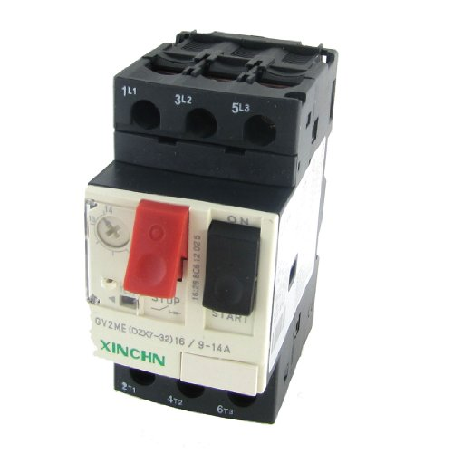 Protection Relay - Uxcell 3P Motor Starter Circuit Breaker Protector, 9-14 Amp, 690V