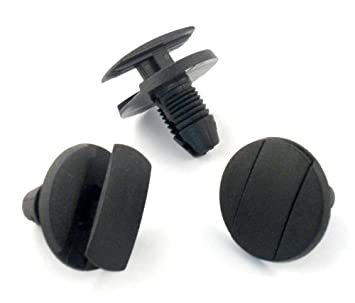 10 x Clips Plásticos Sujeción Paso De Rueda Guardabarros Faldones Para - Remaches Plásticos: Amazon.es: Coche y moto