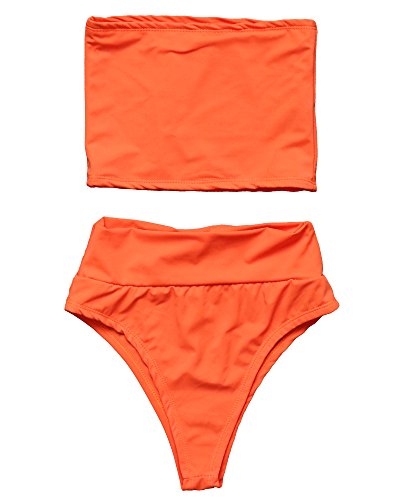RUUHEE Bandeau Swimsuit Waisted Bikini
