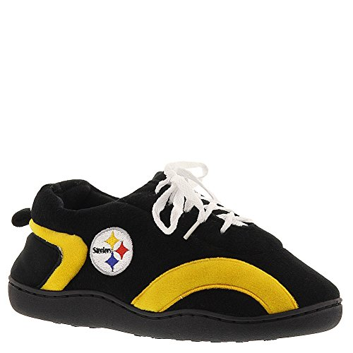 Mens and Around Feet Steelers Slippers Comfy Feet NFL Licensed All Happy Pittsburgh Officially Womens RYRwqX4