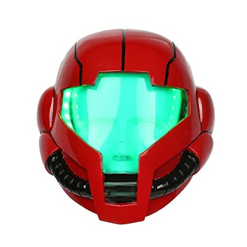 Samus Helmet Deluxe Red Resin Adult Mask with LEDs Cosplay Costume Xcoser