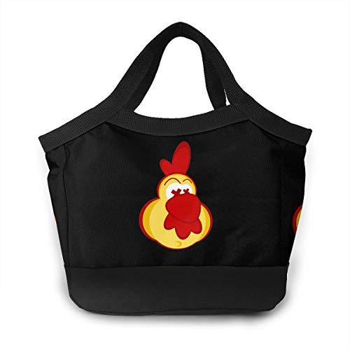 Chicken Clipart - Chicken Clipart With Crazy Eyes Women Lunch Bags For Insulated Lunch Tote Bag Leak-proof Lunch Box Cooler Bag For Working School Picnic Beach Sporting