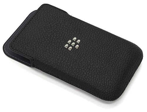 BlackBerry ACC-60087-001 Leather Pocket Case for Blackberry Classic - Retail Packaging - Black