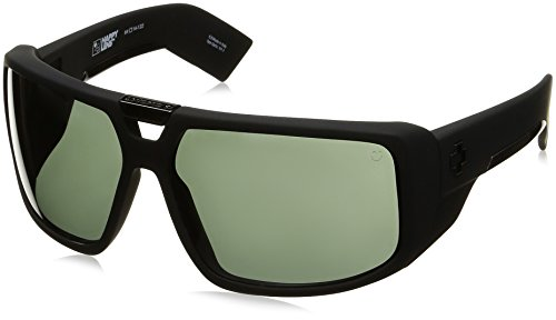 Spy Optic Touring Wrap Sunglasses, Soft Matte Black/Happy Gray/Green, 64 mm by Spy