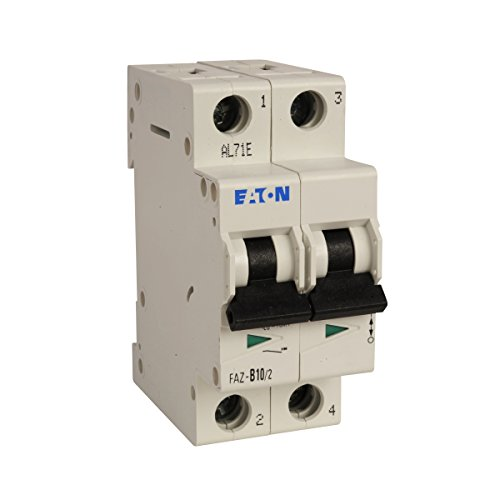 40a 2p Circuit Breaker - Eaton, FAZ-B40/2-NA, Ul 489 UL 489 Industrial Miniature Circuit Breaker 2P 40A B Curve, Supplementary Protector