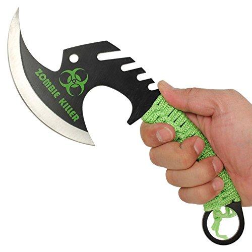 Zombie Killer Skullsplitter Throwing Axe Green