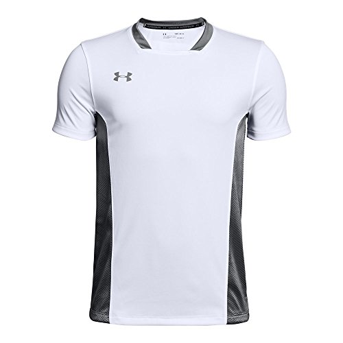 Under Armour Boys' Youth Challenger II Training Shirt, White