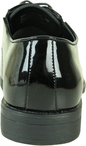 Vangelo Heren Smoking Schoen Tux-7 Mode Moc Teen Met Kreukvrij Materiaal Zwart Patent 16w