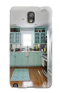 Galaxy Skin Case Cover For Galaxy Note 3 Popular Turquoise Kitchen With Stainless Appliances And Hardwood Floor Phone Case