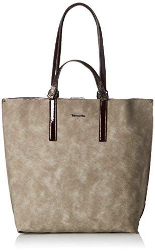 TamarisAmber Shopping Bag - Bolso de mano Mujer Gris (Pepper Comb)
