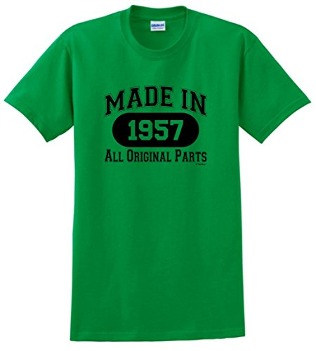 60th Birthday Gifts for Dad 60th Birthday Gift Made 1957 All Original Parts T-Shirt Large Green Gifts For Dad 60th Birthday
