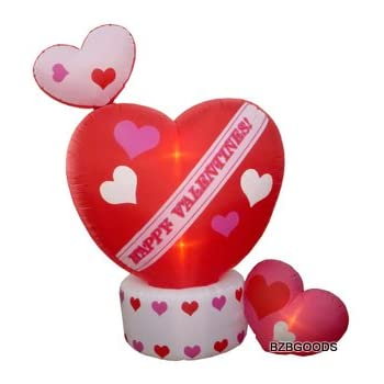 2d7c59739272e 8 Foot Animated Inflatable Valentine's Hearts w/Top Heart Rotating -  Romantic Valentines Gift for Couples, Idea