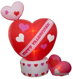 8 Foot Animated Inflatable Valentine's Hearts w/ Top Heart Rotating - Romantic Valentines Gift for Couples, Cute Gift Idea