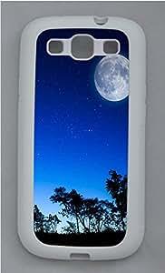 Samsung S3 Case Skyviews moon TPU Custom Samsung S3 Case Cover White