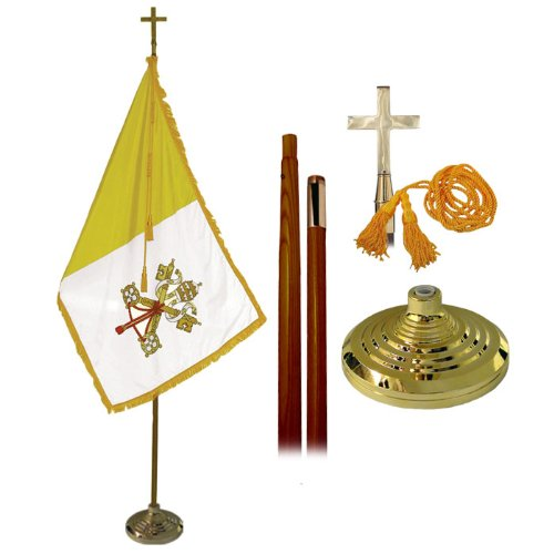 Deluxe Vatican City (Papal) Presentation Set With 8' Pole