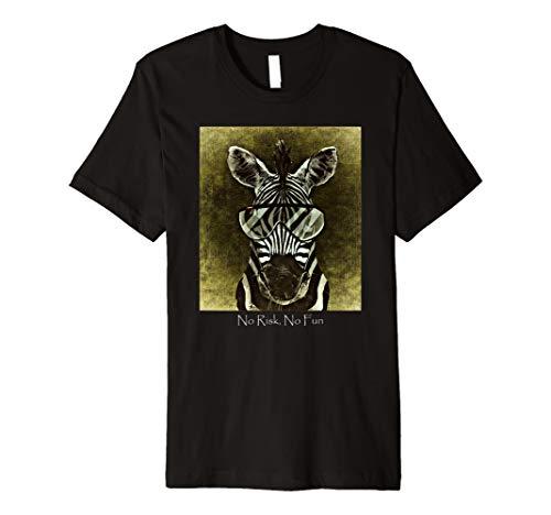 (Safari Cool Zebra Zoo Animal Premium T-Shirt No Risk No)