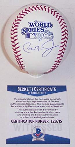 - Autographed Cal Ripken Jr. Baseball - Official 1983 World Series Major League BAS - Beckett Authentication