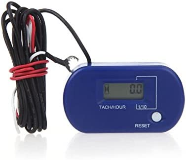 60000RPM Digital Resettable Running Hour Tach Meter Rev Counter LCD Waterproof