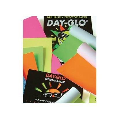 Papyrus Day Glo Coloured Printing Paper 100 Sheets for Copier and Laser Printer 100 g A4 Assorted Fluorescent Colours