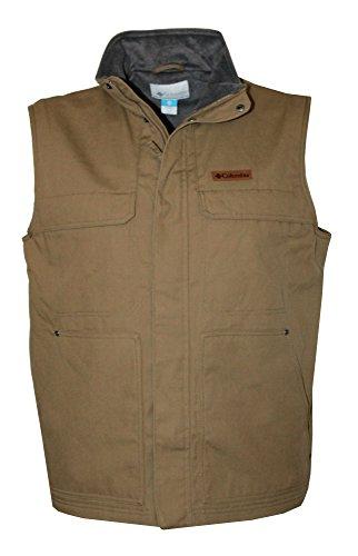 Columbia Men's Larix Park Water Resistant Fleece Lined Full Zip Vest (Delta, XL)