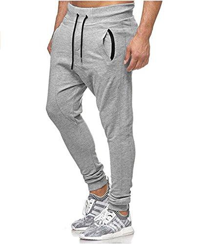 LANSKIRT_Pantalones Chandal Hombre Ropa Fitness Sueltos de ...