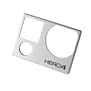Faceplate Front Cover Face Plate - Frame Housing Repair Part Fix for GoPro Hero 4 Black and Silver Edition