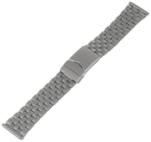 Hadley-Roma Men's MB5168RTISQ22 22-mm Titanium Finish Stainless Steel WatchBracelet](Titanium Watch Bands)