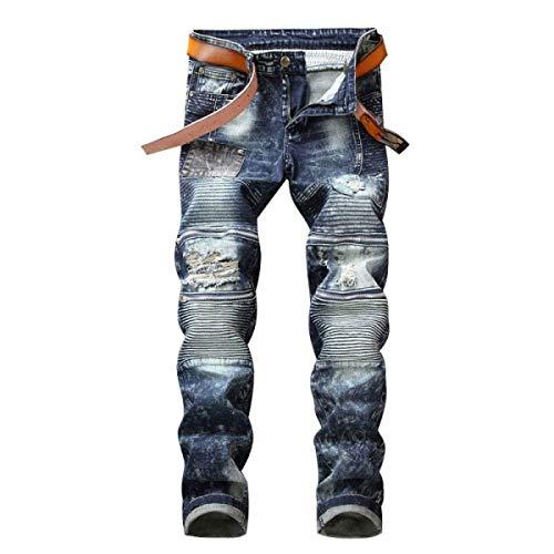 Battercake Algodón Fit Del Sin Pantalones Elásticos Delgados Vaqueros Pretina De Denim 7 Rectos Midi Los Jeans Regular Hombres Cómodo Dril SqSrYt7