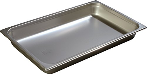 Carlisle 607002 DuraPan Light Gauge Stainless Steel Full-Size Steam Table Food Pan, 2.5